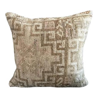 Antique Bohemian Organic Wool Decorative Pillow Case For Sale