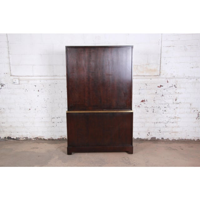 Milo Baughman for Directional Custom Collection Campaign Style Gentleman's Chest For Sale - Image 11 of 13