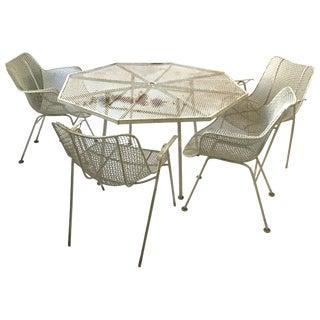Woodard Sculptura Outdoor Patio Dining Set For Sale