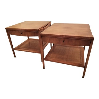 1950s Mid-Century Modern John Widdicomb Single Drawer End Tables - a Pair For Sale