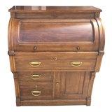 Image of Antique Victorian Desk Barrel Roll For Sale