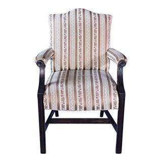 19th Century Carved Mahogany Georgian Armchair For Sale