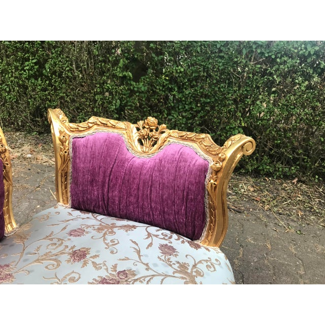 This piece has a hand carved wooden frame made, done by a specialist in the South of France. The sofa was upholstered with...