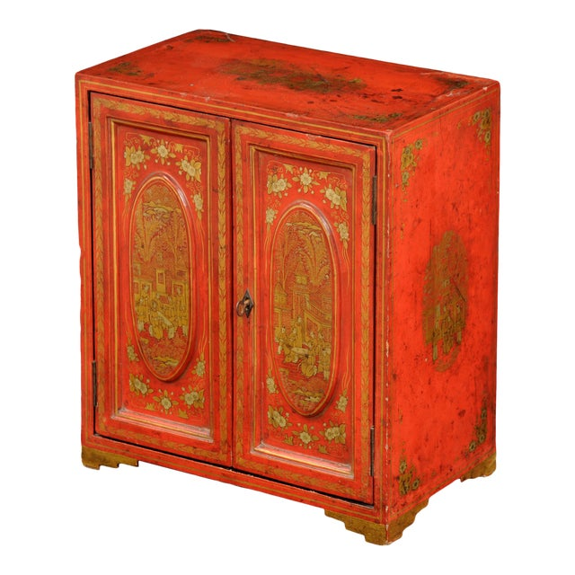 Antique Chinese Export Miniature Cabinet, Circa 1850 For Sale
