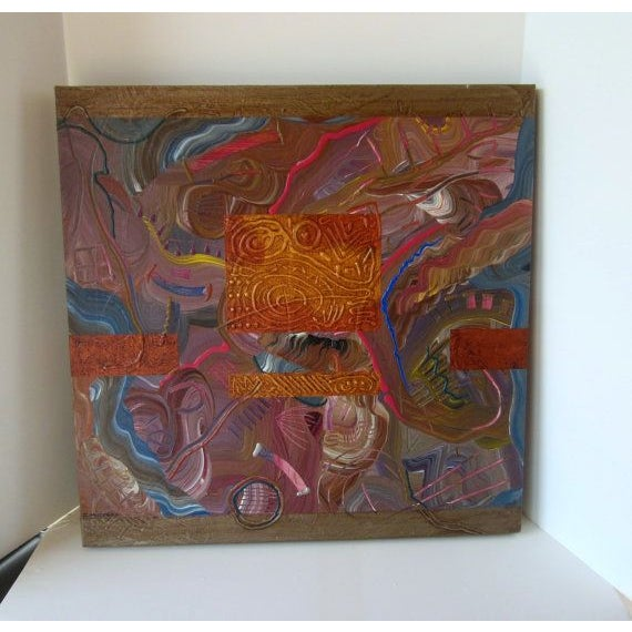 Charles Huckeba Signed Modernist Oil Painting - Image 5 of 6