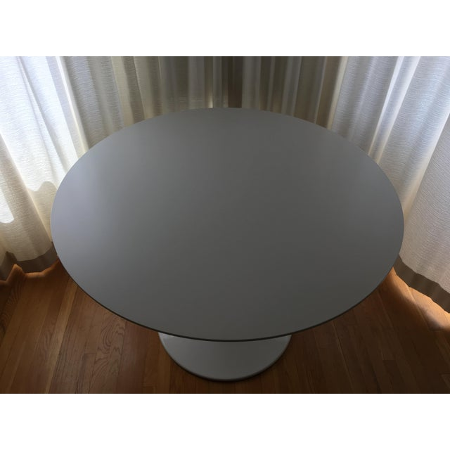 Minimalism Room and Board White Aria Table For Sale - Image 3 of 5