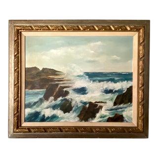 1961 Original Seascape Oil Painting For Sale