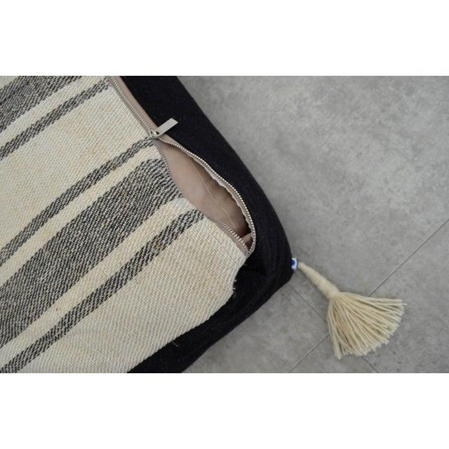 Sisal Turkish Handmade Kilim Floor Cushion For Sale - Image 7 of 7