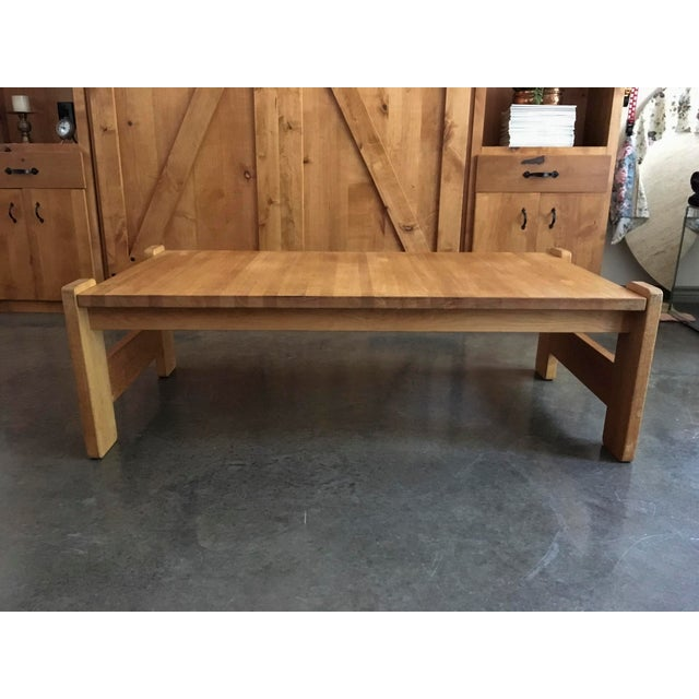 Danish Modern Wooden Coffee Table - Image 2 of 7