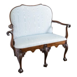 English Chippendale Settee For Sale