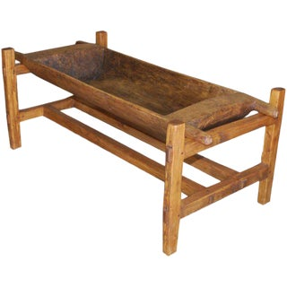 Large Antique Doughset Planter or Coffee Table For Sale