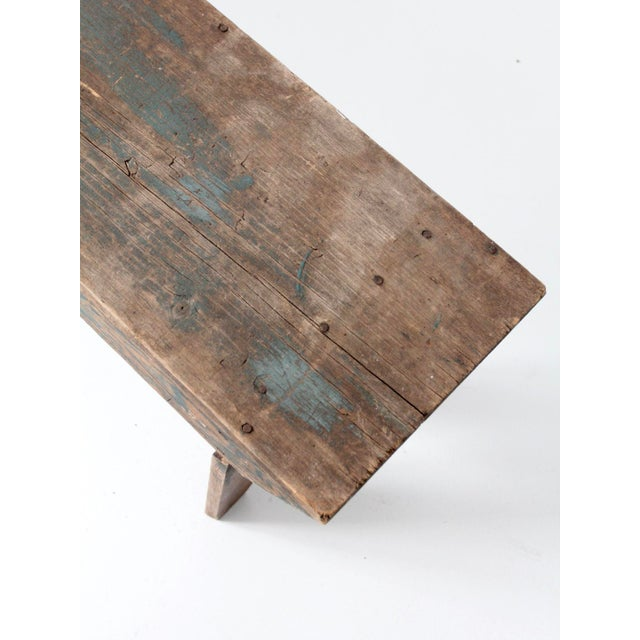 Antique Wooden Bench For Sale - Image 10 of 11