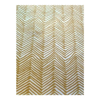 Alan Campbell for Quadrille Zig Zag Linen Fabric- 4 Yards For Sale