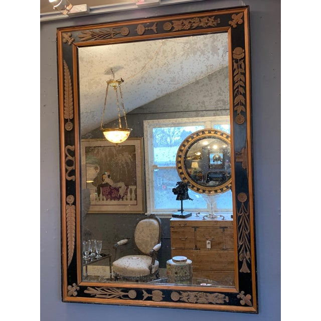 Carved Wood Art Nouveau Mirror With Fleur-DI-Lis For Sale - Image 13 of 13