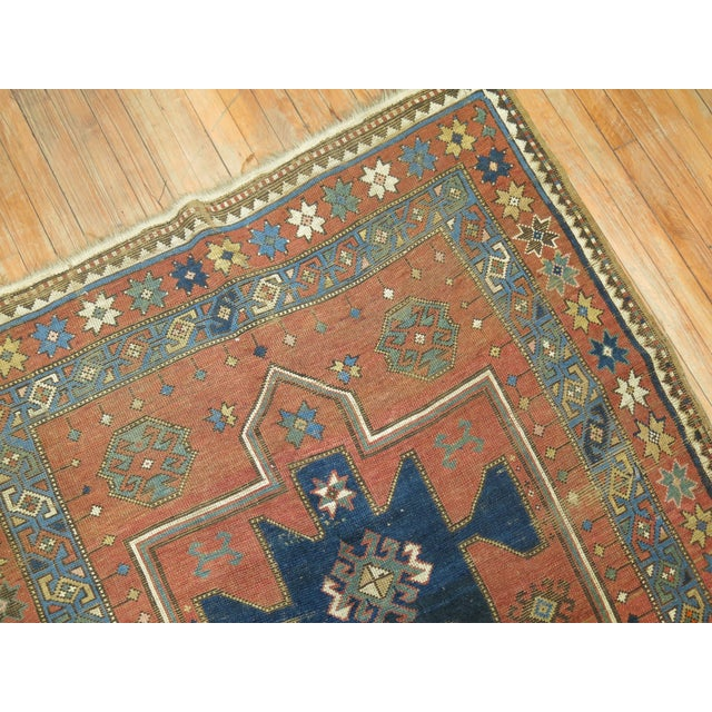 Antique Caucasian Rug, 4'6'' x 8' For Sale - Image 5 of 11