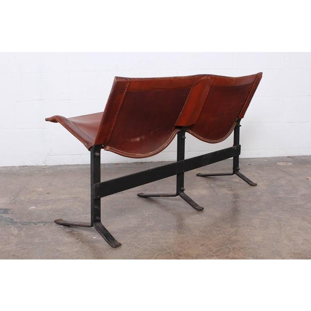 1960s Leather Bench by Max Gottschalk For Sale - Image 5 of 10