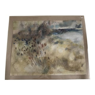 Lawrence Goldsmith Signed Original Watercolor