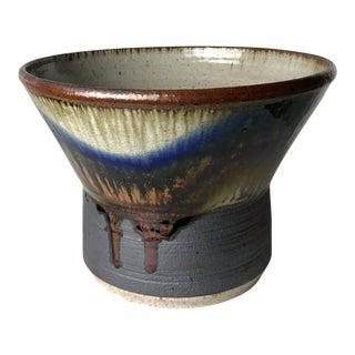 1970s Mediterranean Studio Pottery Stoneware Planter Bowl