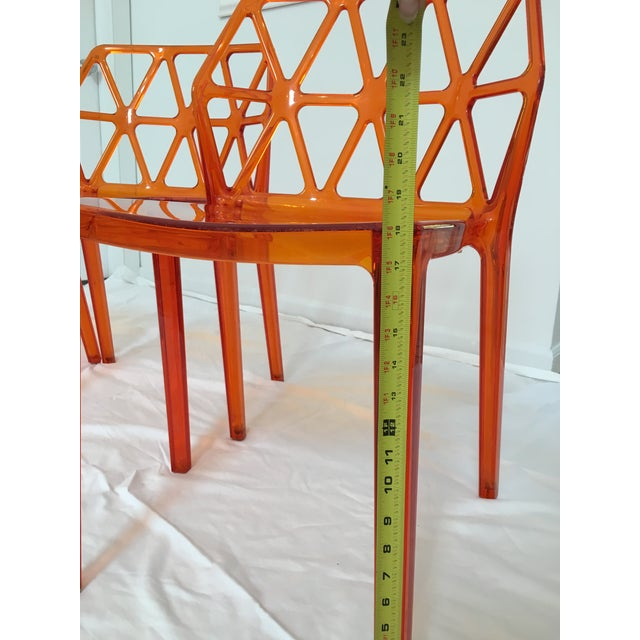 Calligaris Alchemia Dining Chairs in Orange - Set of 12 For Sale - Image 10 of 13