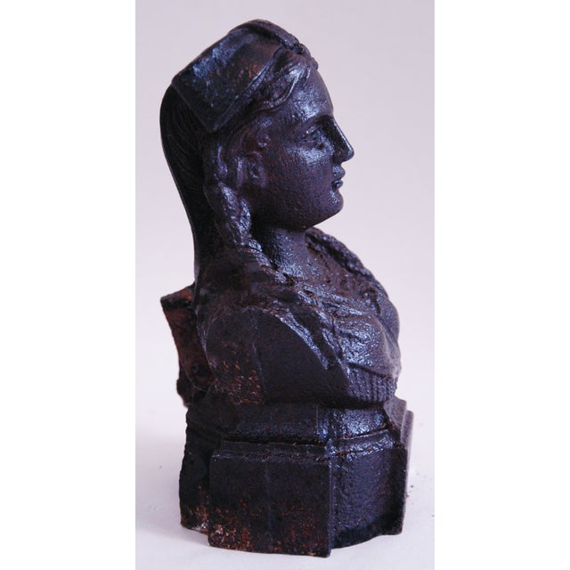 19th Century French Iron Lady Bust Fragment - Image 6 of 9