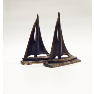 Vintage Sail Boat Nautical Bookends - Set of 2 Preview