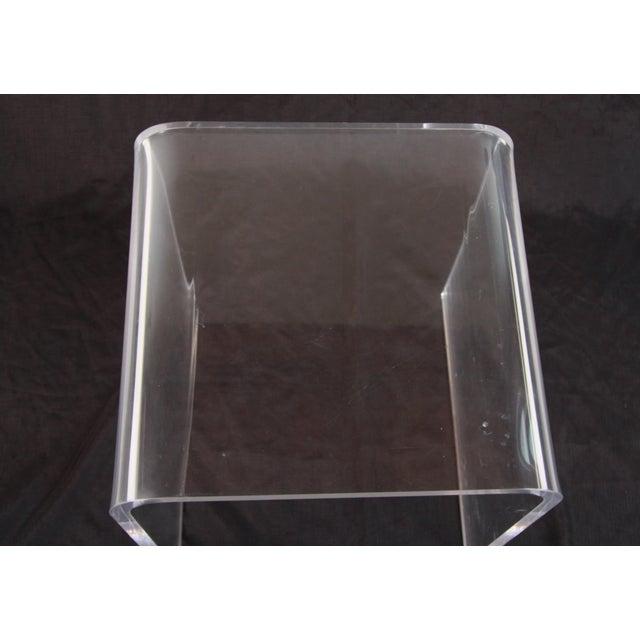 Transparent Shlomi Haziza Lucite Nesting Tables - Set of 3 For Sale - Image 8 of 12