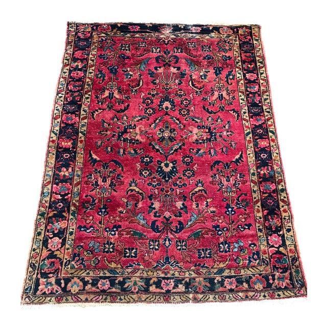 "Vintage Persian Sarouk Rug - 5'1""x 6'7.5"" - Image 1 of 5"