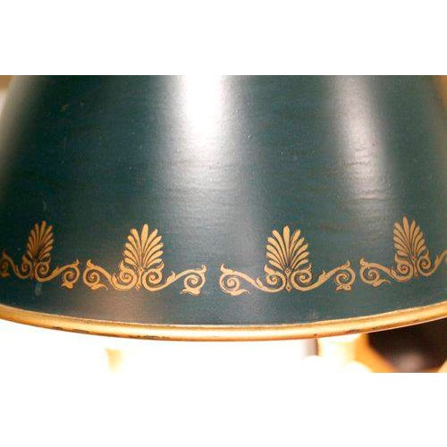 French Bouillotte Lamp With Green Tôle Shade - Image 4 of 6