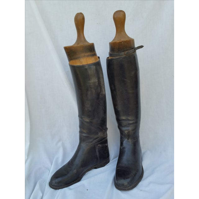 Edwardian English Riding Boots and Lasts - Image 2 of 4