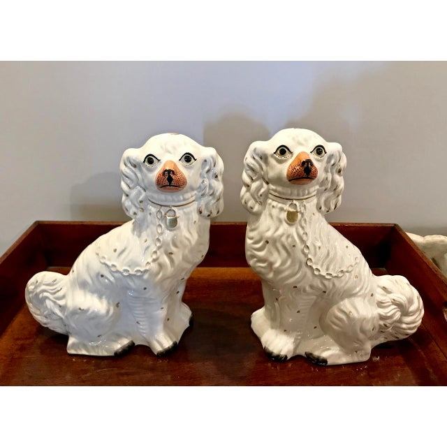 Pair Large English Staffordshire Spaniels, C. 1860 For Sale - Image 10 of 10