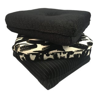 Contemporary Three Pillow Stool For Sale