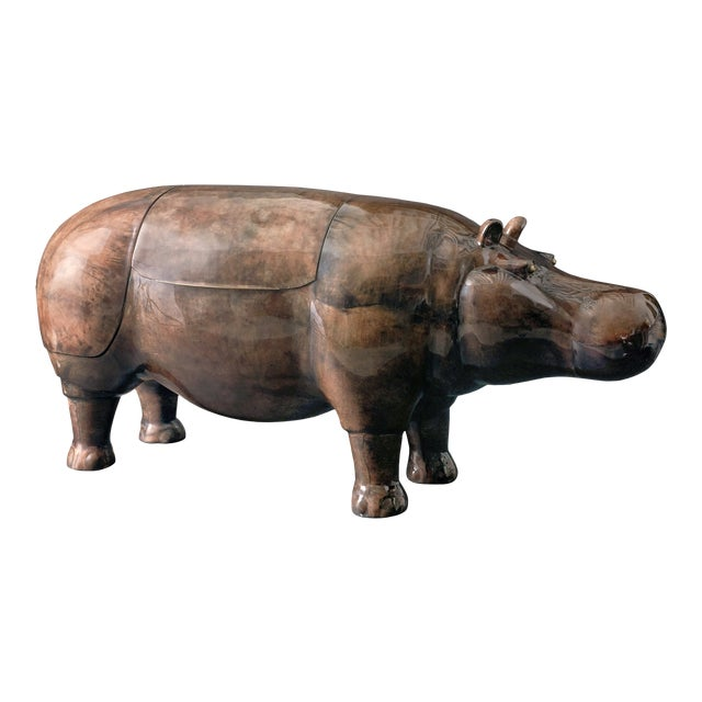 Hippo Parchment Dry Bar For Sale - Image 4 of 8