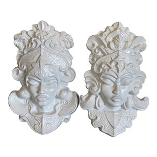 Indian Princess Wall Hangings - a Pair For Sale