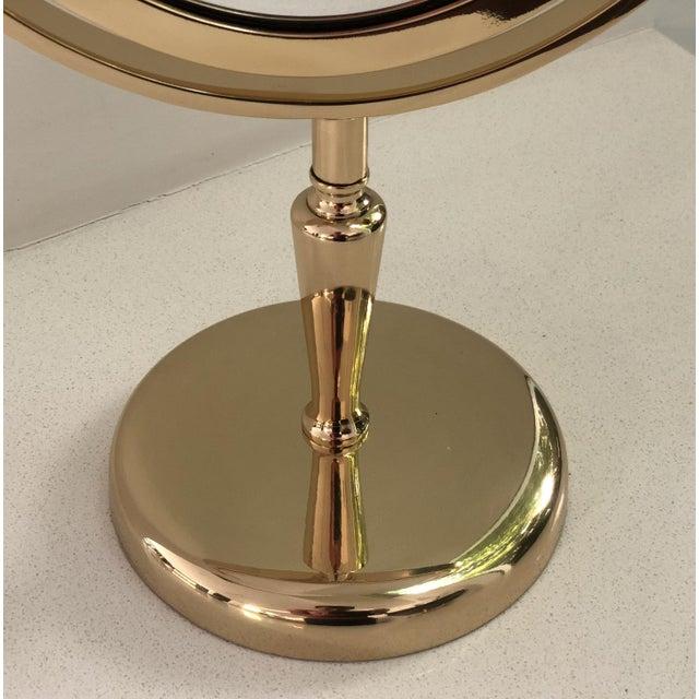 Brass Vanity Mirror by Charles Hollis Jones For Sale In Los Angeles - Image 6 of 8