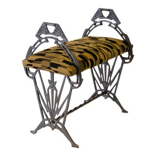 Art Deco Iron Bench For Sale