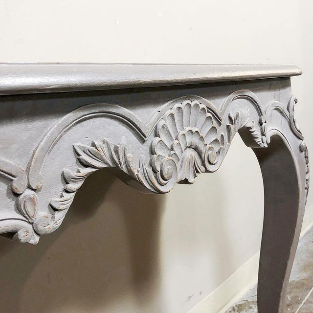 Pair 19th Century French Louis XV Painted Consoles For Sale - Image 9 of 13