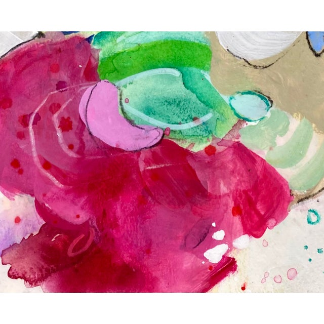 """2020s """"Coming in Out of the Rain"""" Contemporary Abstract Expressionist Mixed-Media Painting by Gina Cochran For Sale - Image 5 of 5"""