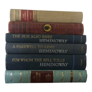 Early 20th Century Classic Vintage Books- Set of 6 For Sale