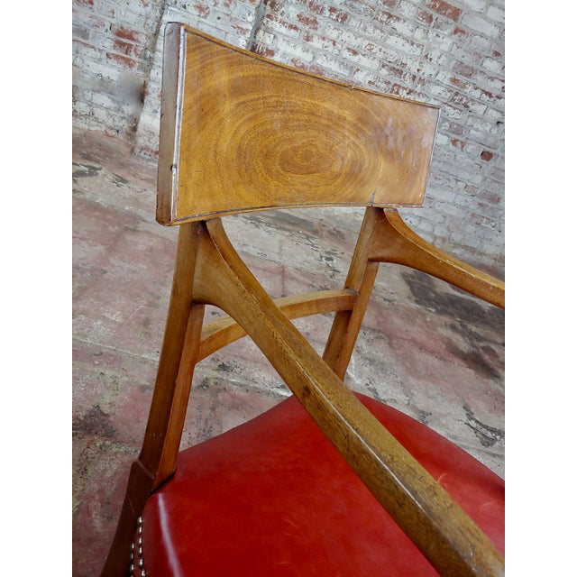 Red 1820s Vintage George IV Mahogany Arm Chairs-Set of 4 For Sale - Image 8 of 10