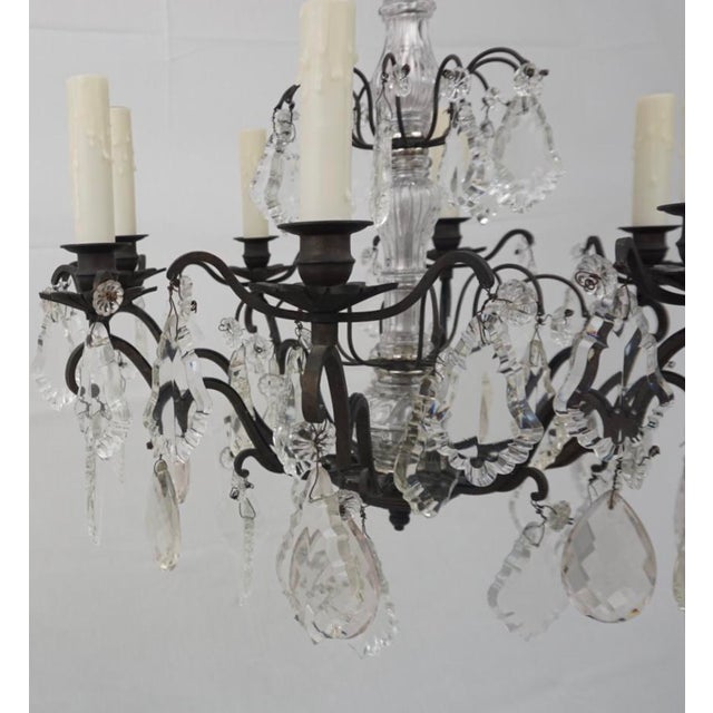 French Provincial 19th Century Crystal Chandelier For Sale - Image 3 of 6