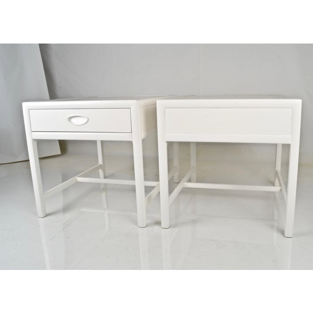 Wood Baker End Tables Circa 1950s For Sale - Image 7 of 9