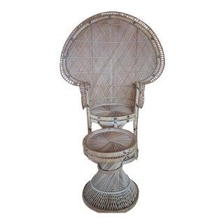Vintage Peacock Chair & Ottoman - A Pair