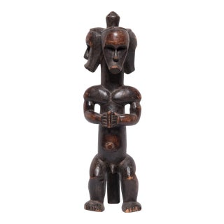 Gabonese Three-Headed Fang Figure For Sale