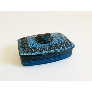 Mid Century Blue Pottery Box Preview