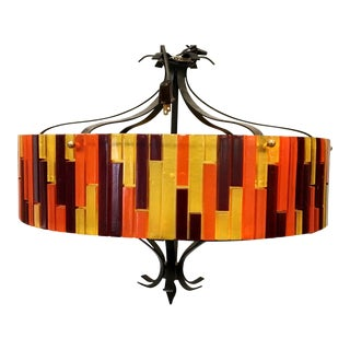 "1960s Brutalist Moe Light ""Fiesta"" Celing Lamp"