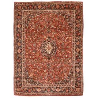 Antique Persian Kashan Carpet For Sale