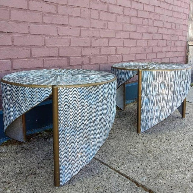 This is a pair of one of a kind artisan tables designed and created by one of the founders of the Pilsen East Guild. The...
