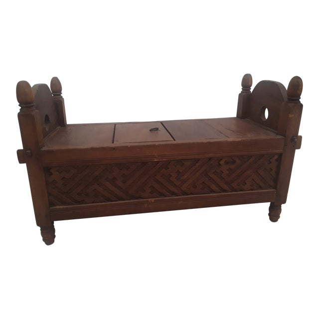 Indonesian Jodang Teak Wood Table For Sale