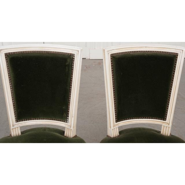 French French Vintage Louis XVI Painted Side Chairs - a Pair For Sale - Image 3 of 11