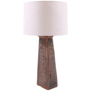 Sculptural Studio Large Ceramic Table Lamp For Sale